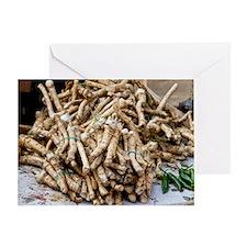 Horseradish roots Greeting Card