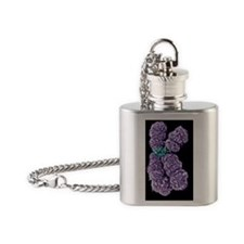 Human chromosome 10, SEM Flask Necklace