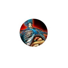 Human anatomy, artwork Mini Button