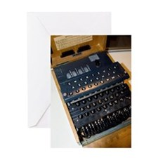 Enigma code machine Greeting Card