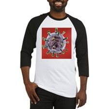 Herpes virus particle, artwork Baseball Jersey