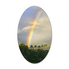 Rainbow on Kauai 35x21 Oval Wall Decal