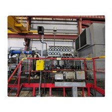 Electricity production facility Throw Blanket