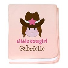 Personalized Little Cowgirl baby blanket
