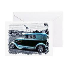 Mafia Staff Antique Car Greeting Card