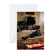 Domestic accident Greeting Card