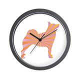 Buhund Rays Wall Clock