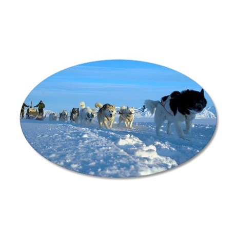 Dogsledge, Northern Greenlan 35x21 Oval Wall Decal