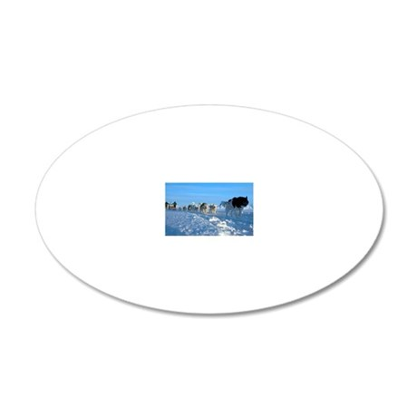 Dogsledge, Northern Greenlan 20x12 Oval Wall Decal