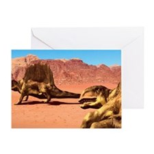 Dimetrodon pair, artwork Greeting Card