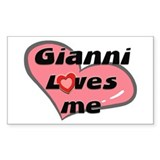 gianni loves me Rectangle Decal