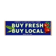 Cute Buy local Car Magnet 10 x 3