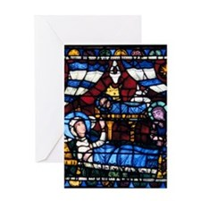 Stained glass window from the Cathed Greeting Card