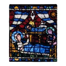Stained glass window from the Cathed Throw Blanket