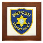 Coconino Sheriff Framed Tile