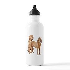 two redbone coonhounds Water Bottle
