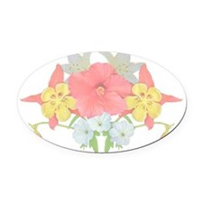 Flower arrange 3 Oval Car Magnet