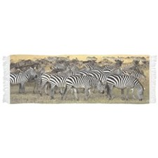 Herd of Burchell's Zebra and wildebeest Scarf