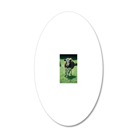 Cow 20x12 Oval Wall Decal