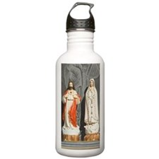 Jesus and Mary icons Water Bottle