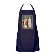 Jesus and Mary icons Apron (dark)