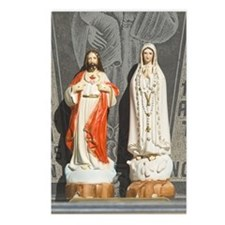 Jesus and Mary icons Postcards (Package of 8)