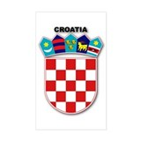 Croatia Rectangle Decal