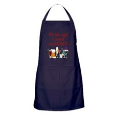 I need glasses Apron (dark)