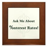 Interest Rates Framed Tile