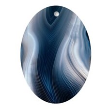Concentric banding in agate Oval Ornament