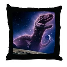 Conceptual art of a ghostly dinosaur  Throw Pillow