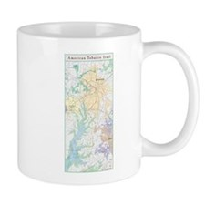 American Tobacco Trail Map Mug