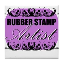 Rubber Stamp Artist Tile Coaster