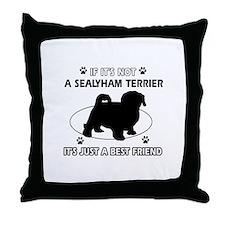 sealyham designs Throw Pillow