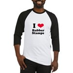 I Love Rubber Stamps Baseball Jersey