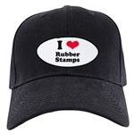 I Love Rubber Stamps Black Cap
