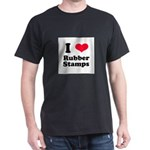 I Love Rubber Stamps Dark T-Shirt