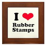 I Love Rubber Stamps Framed Tile