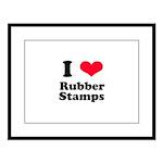 I Love Rubber Stamps Large Framed Print