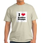 I Love Rubber Stamps Light T-Shirt