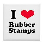 I Love Rubber Stamps Tile Coaster