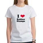 I Love Rubber Stamps Women's T-Shirt