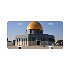 Dome of the Rock Aluminum License Plate