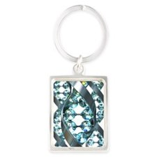 DNA molecule, artwork Portrait Keychain