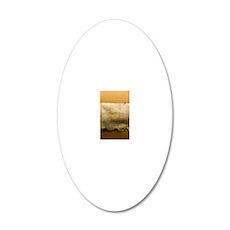 Dead Sea scroll 20x12 Oval Wall Decal