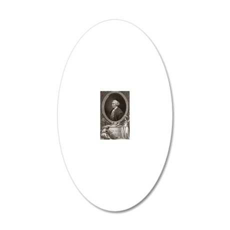 David Hume, Scottish philoso 20x12 Oval Wall Decal