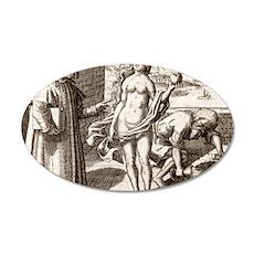 Democritus, Greek philosophe 35x21 Oval Wall Decal