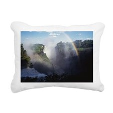 Rainbow at Victoria Fall Rectangular Canvas Pillow