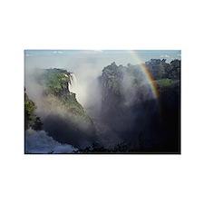 Rainbow at Victoria Falls Rectangle Magnet
