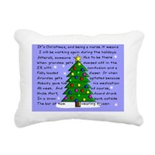 Funny Nurse Christmas Ca Rectangular Canvas Pillow